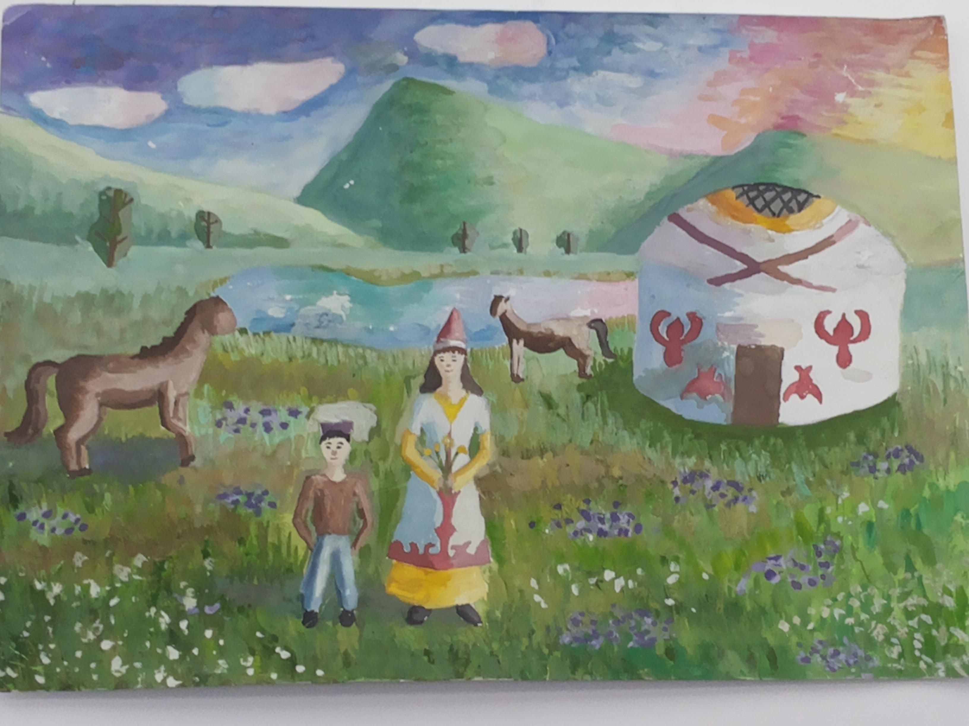 Рисунок адрес детства казахстан
